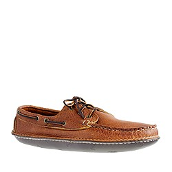 Men's Quoddy® Grizzly leather boat moccasins