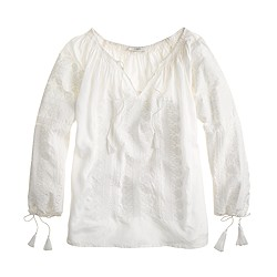 Collection embroidered voile top