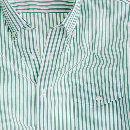 Secret Wash lightweight shirt in woodlawn stripe