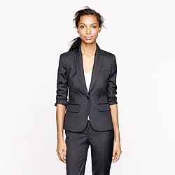 Petite Sidney jacket in pinstripe Super 120s
