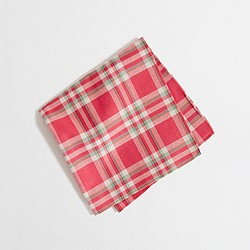 Factory summer plaid pocket square