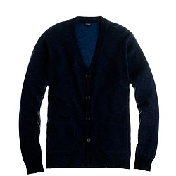 Cotton cardigan in navy
