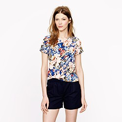 Collection pocket tee in Mai Tai floral
