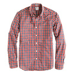 Thomas Mason® for archive J. Crew shirt in 1892 rusted red check