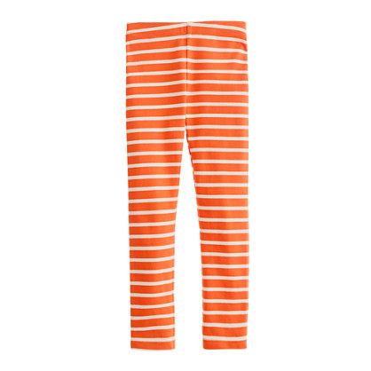 Girls' everyday leggings in boat stripe