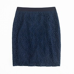 Factory pencil skirt in floral lace