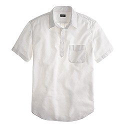 Short-sleeve popover in white oxford
