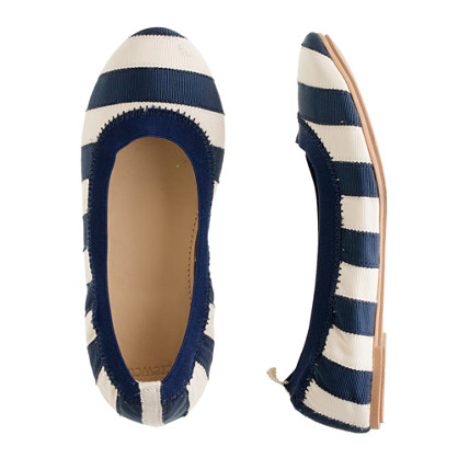 Girls' Mila ballet flats in grosgrain stripe