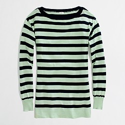 Factory stripe boatneck sweater