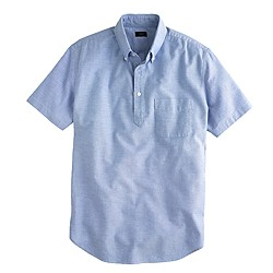 Short-sleeve popover in Blue oxford