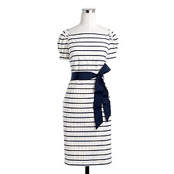 Puffection  dress in stripe