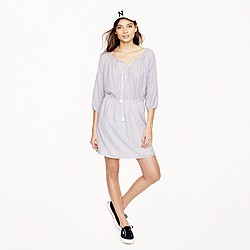 Striped blouson dress