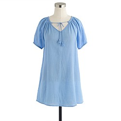 Whisper gauze peasant tunic