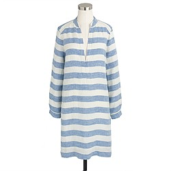 Linen V-neck tunic in stripe