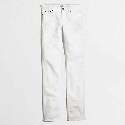 Factory straight and narrow jean in white