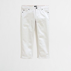 Factory straight and narrow capri jean in white wash