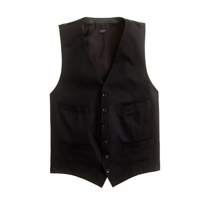 Ludlow suit vest in Italian chino