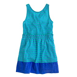 Girls' stripe knit sundress
