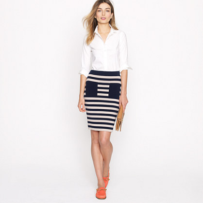 Stripe sweater-skirt