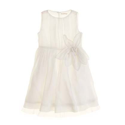 Girls' organdy plumeria dress