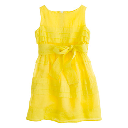 Girls' organdy tiered dress