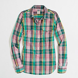 Factory summer plaid popover
