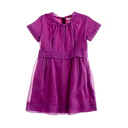 Girls' organdy poppet dress