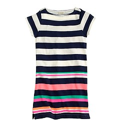 Girls' multistripe tee dress
