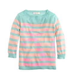 Girls' Collection featherweight cashmere anchor sweater