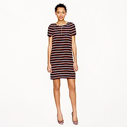 Stripe silk tunic dress