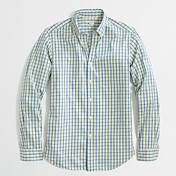 Factory sunwashed oxford shirt in plaid