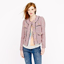 Collection rose tweed jacket