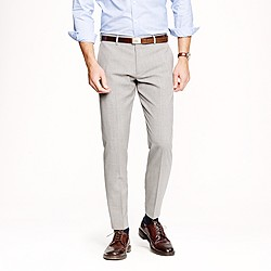 Ludlow slim suit pant in light grey Italian worsted wool