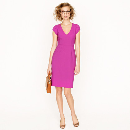 Petite director dress in bi-stretch wool