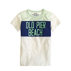 Boys' old pier beach tee