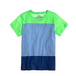 Boys' slub tee in colorblock