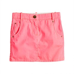 Girls' garment-dyed chino mini