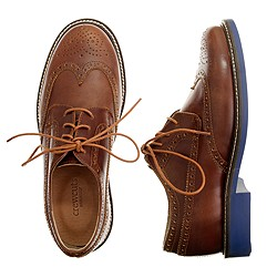 Kids' classic wing tips with contrast sole