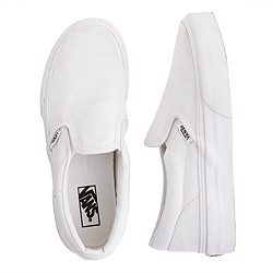 Kids' junior Vans® solid slip-ons