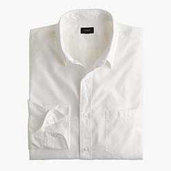 Slim Secret Wash Point-Collar solid shirt