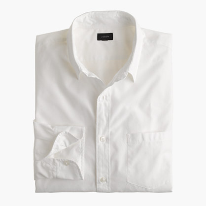 Secret Wash point-collar solid shirt