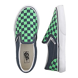 Kids' junior Vans® checkerboard slip-ons