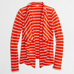 Factory stripe always cardigan