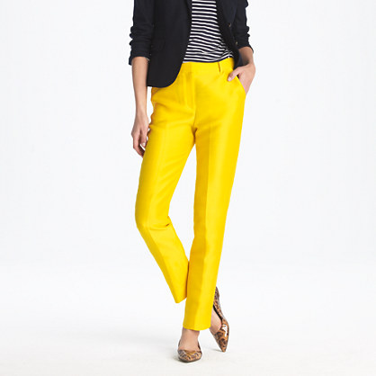 High-waisted pant in silk-wool