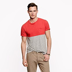Colorblock pocket tee