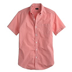 Short-sleeve shirt in deep poppy gingham