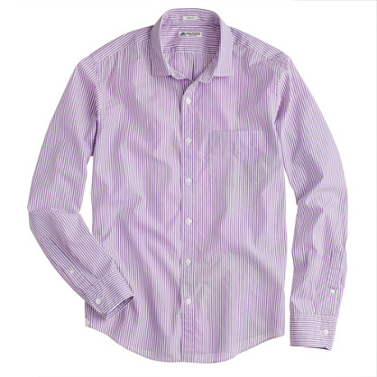 Thomas Mason® for J.Crew slim shirt in bright grape stripe