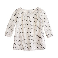 Girls' trapeze top in polka dot