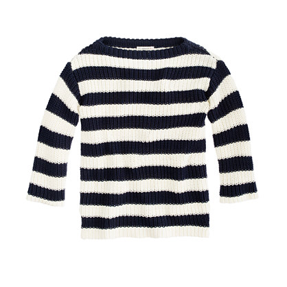 Girls' stripe sailor sweater