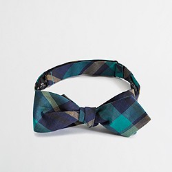 Factory plaid bow tie